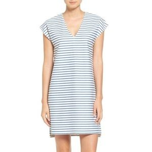 Madewell Blue White Striped Cotton Vacances Dress